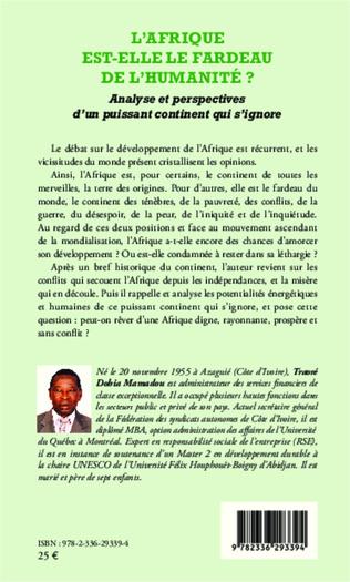 4eme L'Afrique est-elle le fardeau de l'humanité ?