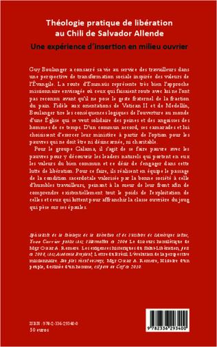 4eme Théologie pratique de libération au Chili de Salador Allende