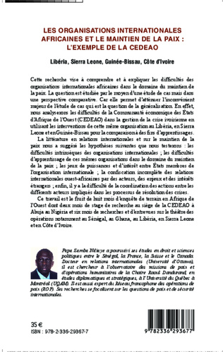4eme Les organisations internationales africaines et le maintien de la paix :