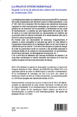 4eme La France Intercommunale