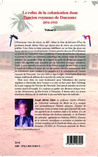 4eme Le refus de la colonisation dans l'ancien royaume de Danxome (volume 2)