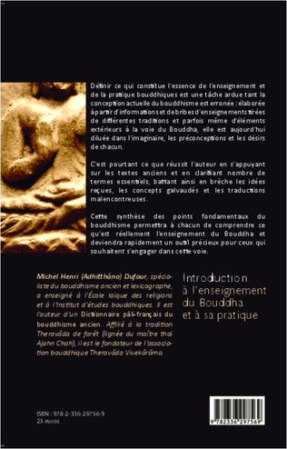 4eme Introduction à l'enseignement du Bouddha et à sa pratique