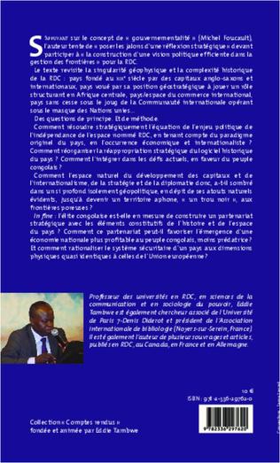 4eme Quelle gouvernementalité des frontières  pour la République démocratique du Congo ?