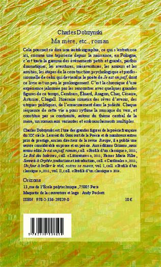 4eme Ma mère, etc., roman