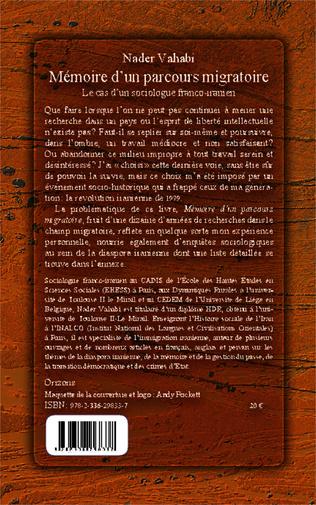 4eme Mémoire d'un parcours migratoire