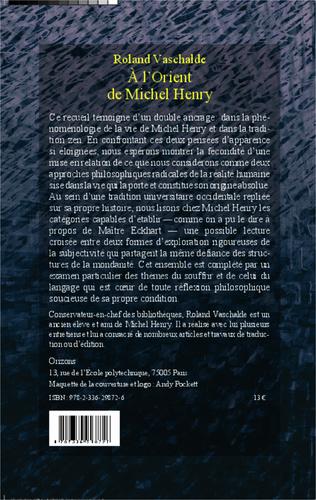 4eme A L'Orient de Michel Henry