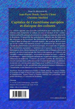 4eme Capitales de l'ésotérisme européen et dialogue des cultures