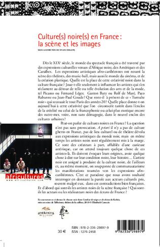 4eme Culture(s) noire(s) en France : la scène et les images