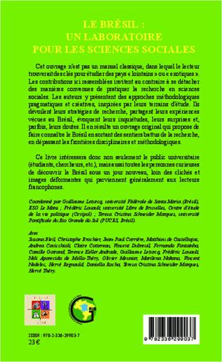 4eme Le Brésil : un laboratoire pour les sciences sociales