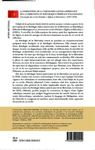 4eme La perception de la théologie latino-américaine de la libération en république fédérale d'Allemagne