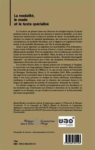 4eme Emplois et fonctions des modaux dans les textes juridiques: le