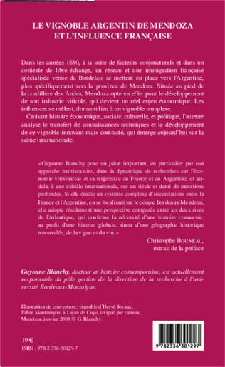 4eme Le vignoble argentin de Mendoza et l'influence française