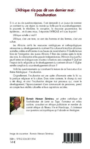 4eme L'Afrique n'a pas dit son dernier mot : l'inculturation