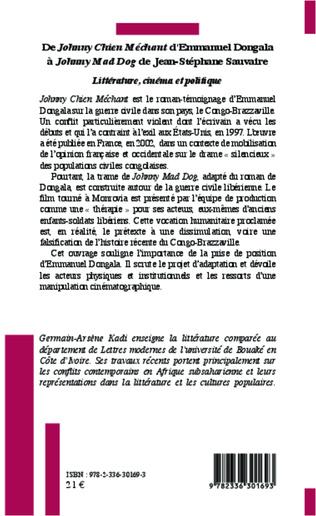 4eme De <em>Johnny Chien Méchant</em> d'Emmanuel Dongola à <em>Johnny Mad Dog </em>de Jean-Stéphane Sauvaire