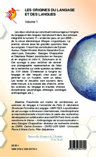 4eme Les origines du langage et des langues (Volume 1)