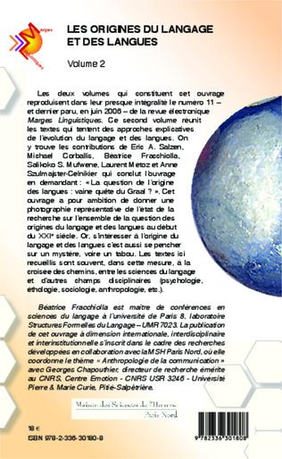 4eme Les origines du langage et des langues (Volume 2)