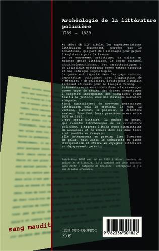 4eme Archéologie de la littérature policière