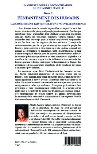 4eme Manifeste pour la décolonisation de l'humanité femelle (Tome 2)
