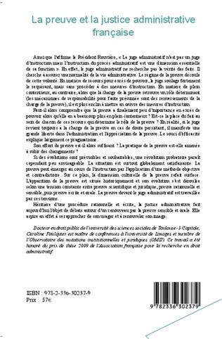 4eme La preuve et la justice administrative française