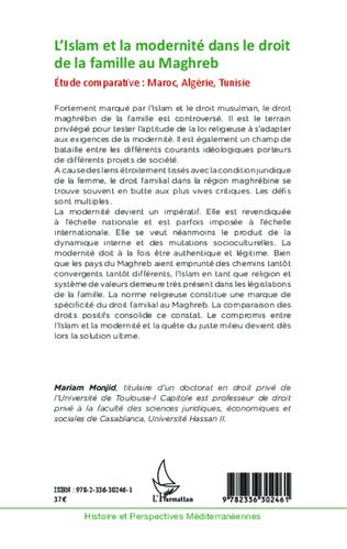 4eme L'Islam et la modernité dans le droit de la famille au Maghreb