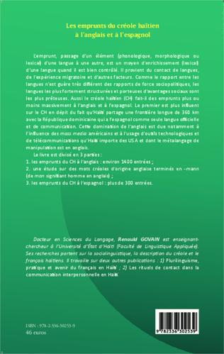 4eme Les emprunts du créole haïtien à l'anglais et à l'espagnol