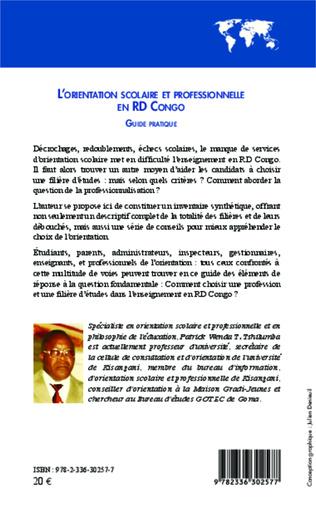 4eme L'orientation scolaire et professionnelle en RD Congo