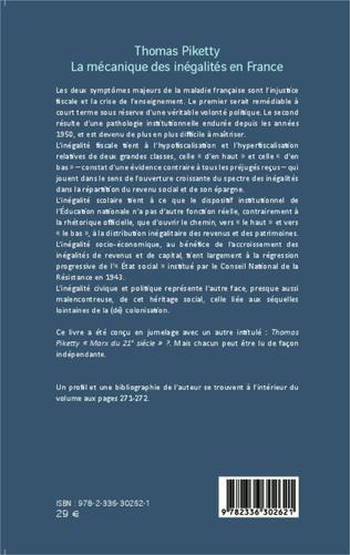 4eme Thomas Piketty, la mécanique des inégalités en France