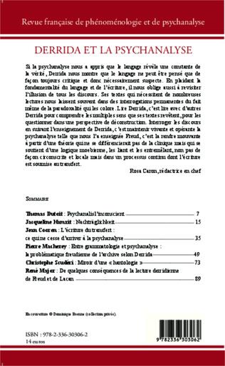 4eme Derrida et la psychanalyse