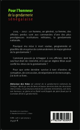 4eme Pour l'honneur de la gendarmerie sénégalaise Tome 2