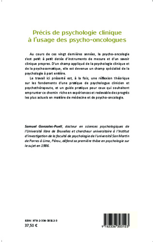 4eme Précis de psychologie clinique à l'usage des psycho-oncologues