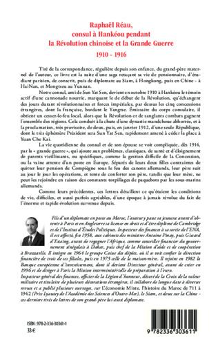 4eme Raphaël Réau, consul à Hankéou pendant la Révolution chinoise et la Grande Guerre
