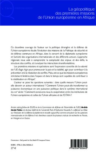 4eme La géopolitique des premières missions de l'Union européenne en Afrique