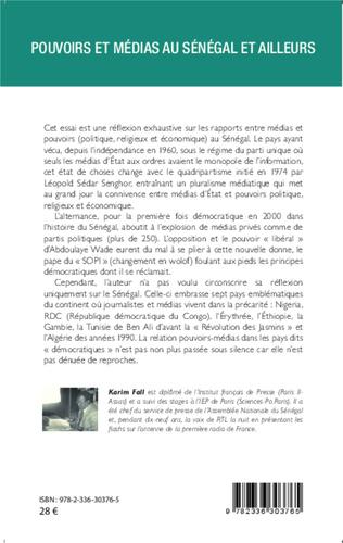 4eme Pouvoirs et médias au Sénégal et ailleurs