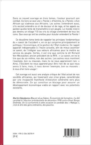 4eme Une « parole » pour un État républicain, démocratique et social en Afrique noire (Tome 2)