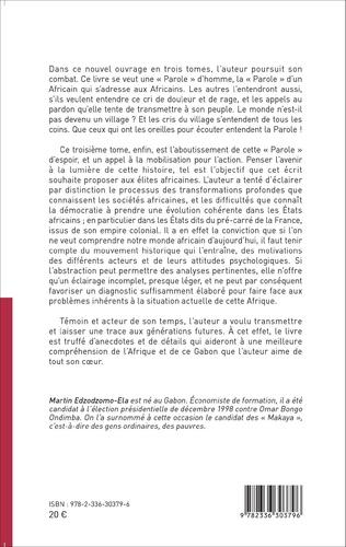 4eme Une « parole » pour un État républicain, démocratique et social en Afrique noire (Tome 3)