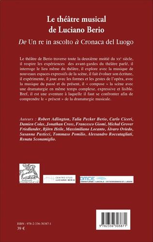 4eme Le théâtre musical de Luciano Berio (Tome II)