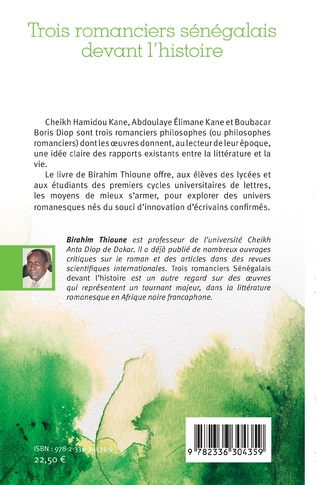 4eme Trois romanciers sénégalais devant l'histoire
