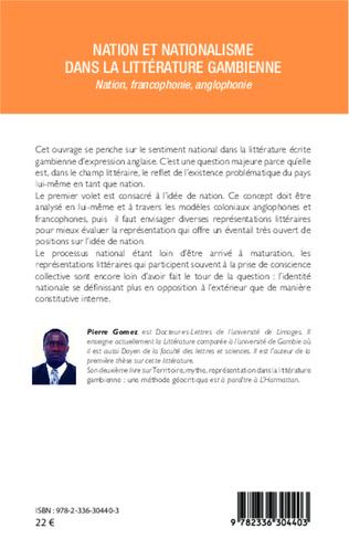 4eme Nation et nationalisme dans la littérature gambienne