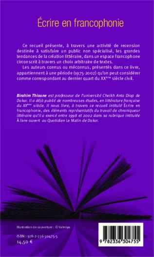 4eme Ecrire en francophonie