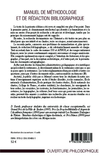 4eme Manuel de méthodologie et de rédaction bibliographique