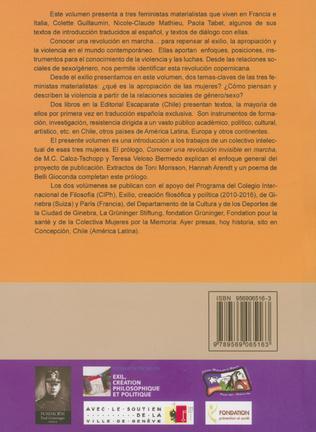 4eme Tres feministas Materialistas (Volumen I)