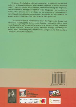 4eme Tres feministas Materialistas (Volume II)
