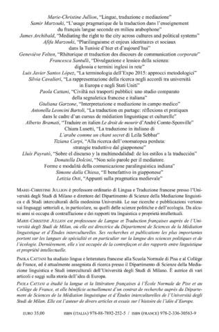 4eme Les langues, les cultures et la traduction pour la médiation : perspectives d'enseignement et de recherche