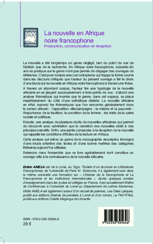 4eme La nouvelle en Afrique noire francophone