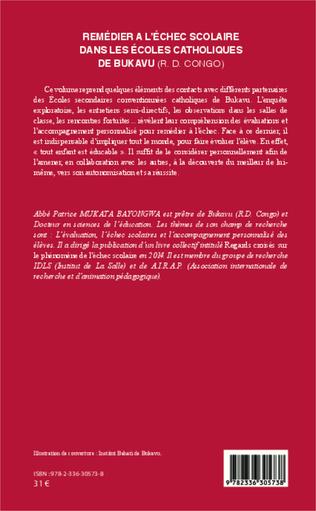 4eme Remédier à l'échec scolaire dans les écoles catholiques de Bukaru (R. D. Congo)