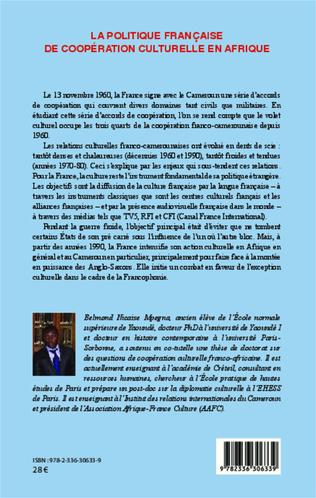 4eme La politique française de coopération culturelle en Afrique