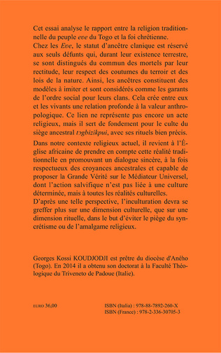 4eme Médiation des ancêtres chez les Eve du Togo et sa réception par le christianisme