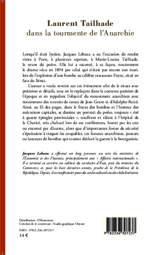 4eme Laurent Tailhade dans la tourmente de l'Anarchie