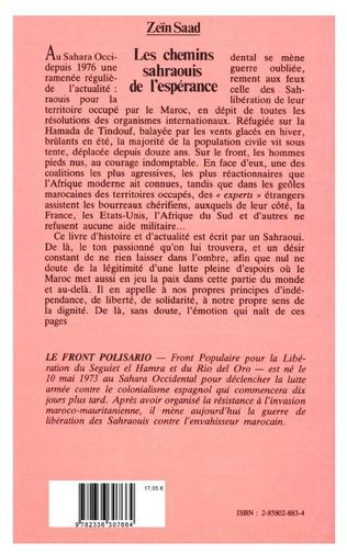 4eme Les chemins sahraouis de l'espérance