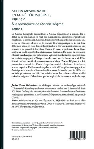 4eme Action missionnaire en Guinée Equatoriale, 1858-1910 Tome 2